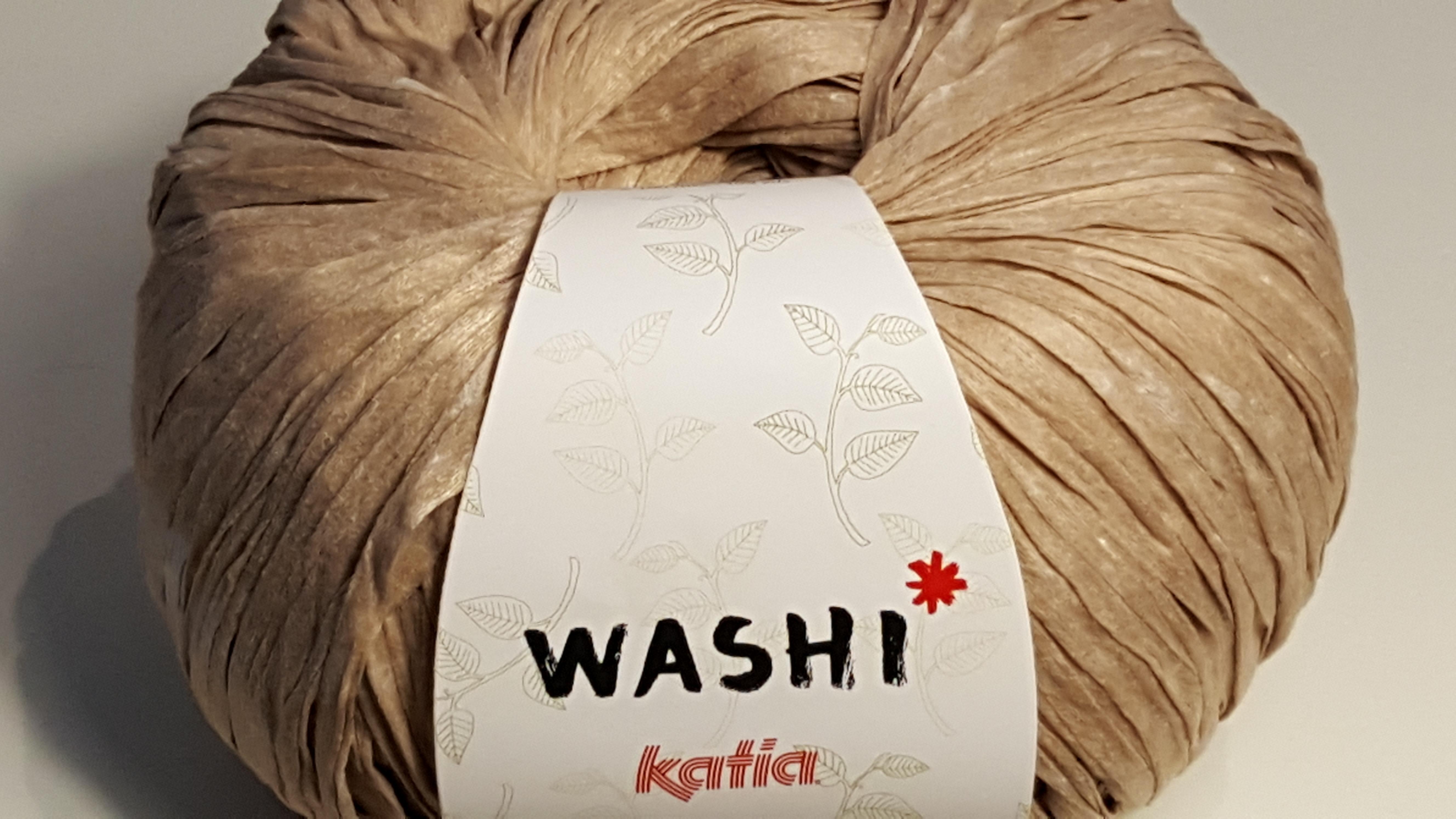 Strickliesel-Shop - Katia,Washi,102, Beige, Bändchengarn, Tasche ...