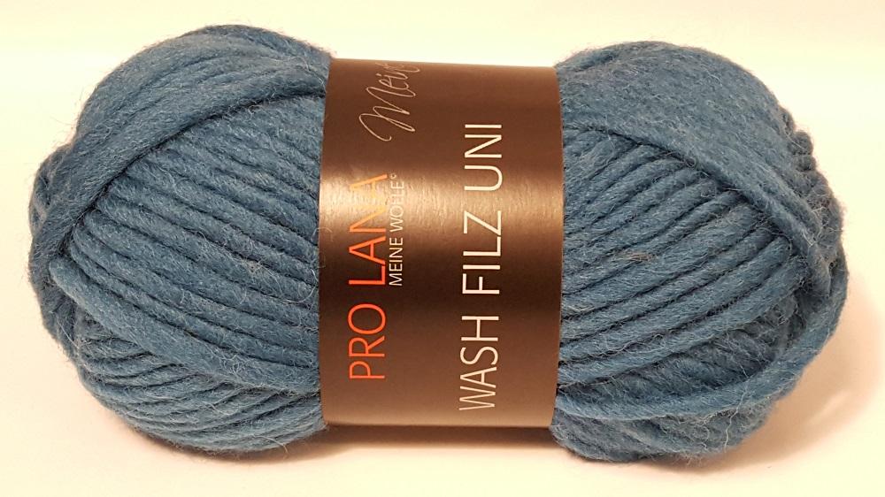 Strickliesel Shop Wash Filz 160 Jeansblau Pro Lana Wollfilz