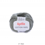 Katia/Cotton 100/27 Khaki Grün